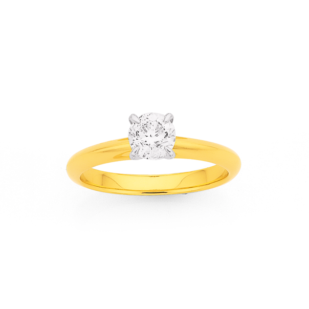 18ct Diamond Solitaire Ring TDW=.70ct