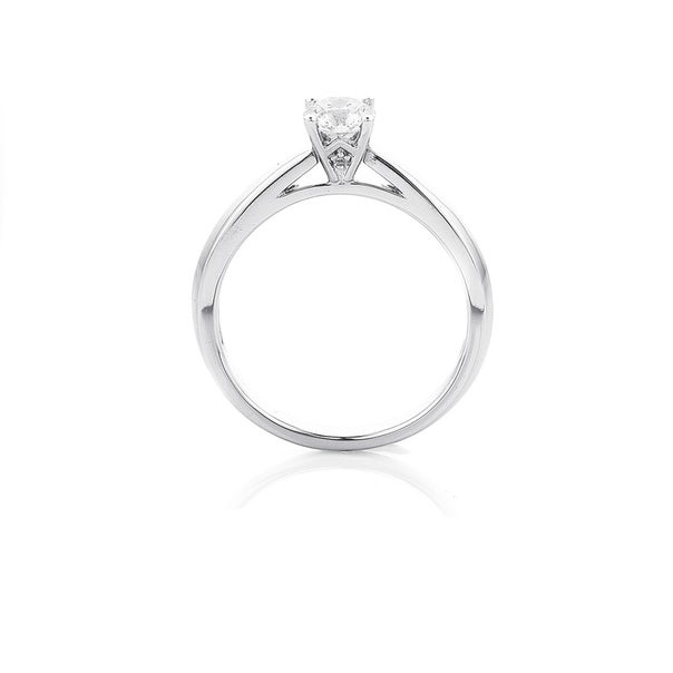 18ct White Gold Diamond Solitaire Ring Total Diamond Weight= .50