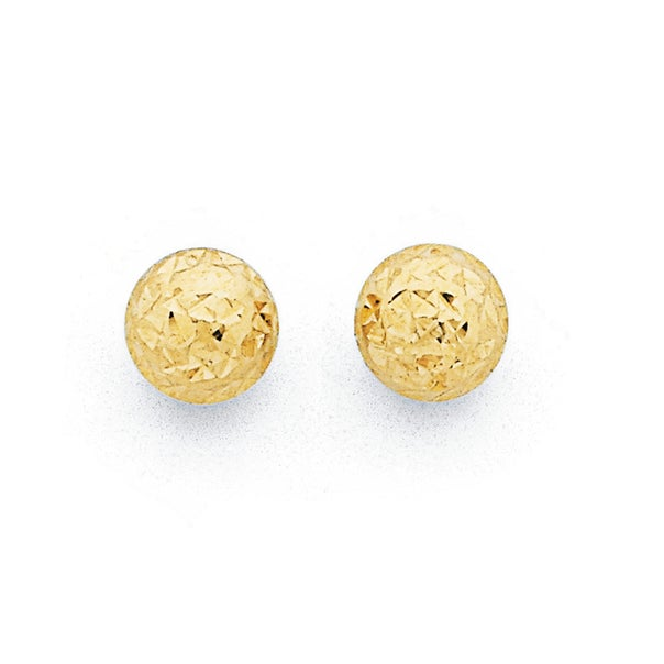 6mm Ball Studs Earrings  in 9ct Yellow Gold