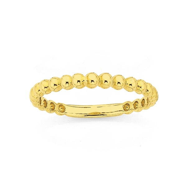 9ct 2mm Bubble Stacker Ring