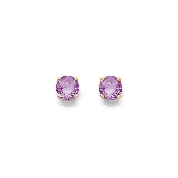 9ct Amethyst Stud Earrings