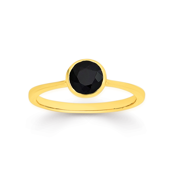 9ct Black Sapphire Ring