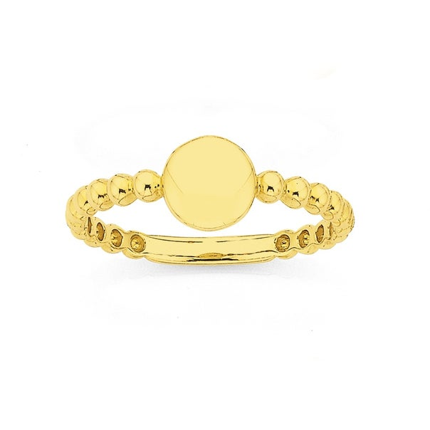 9ct Bubble Signet Stacker Ring