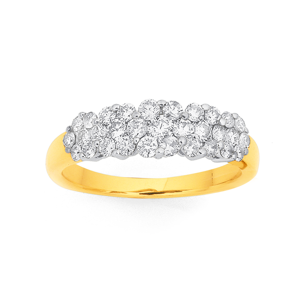 9ct Cluster Diamond Ring TDW=1.00ct
