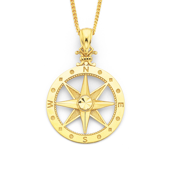 9ct Compass Pendant