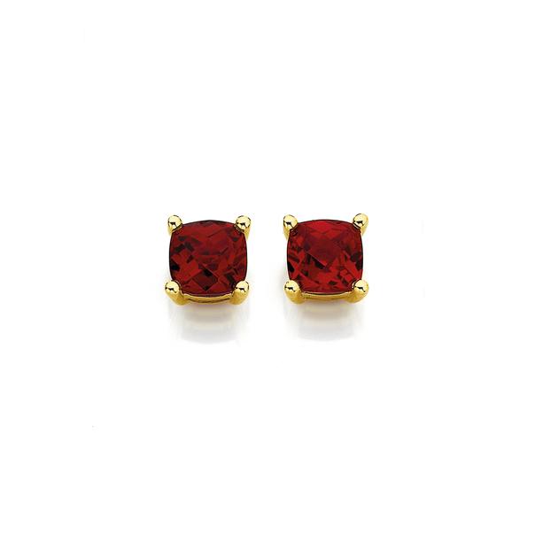 9ct Created Ruby Studs Earrings