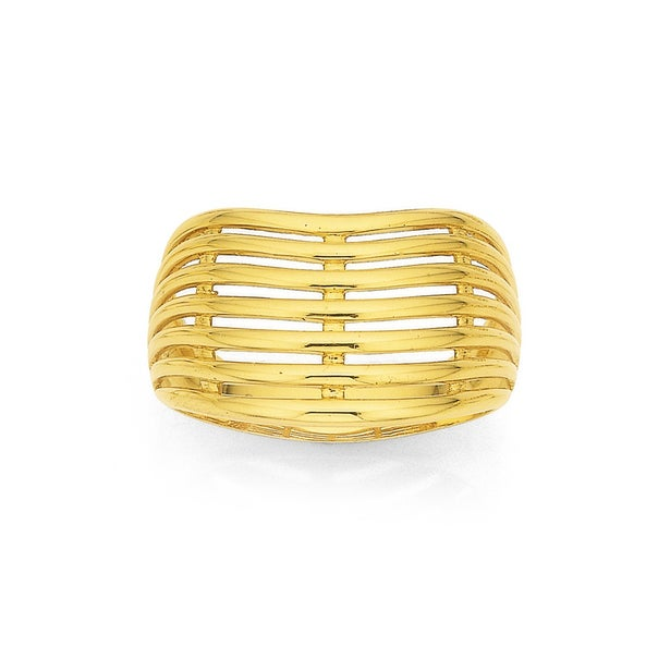 9ct  Curved Ring