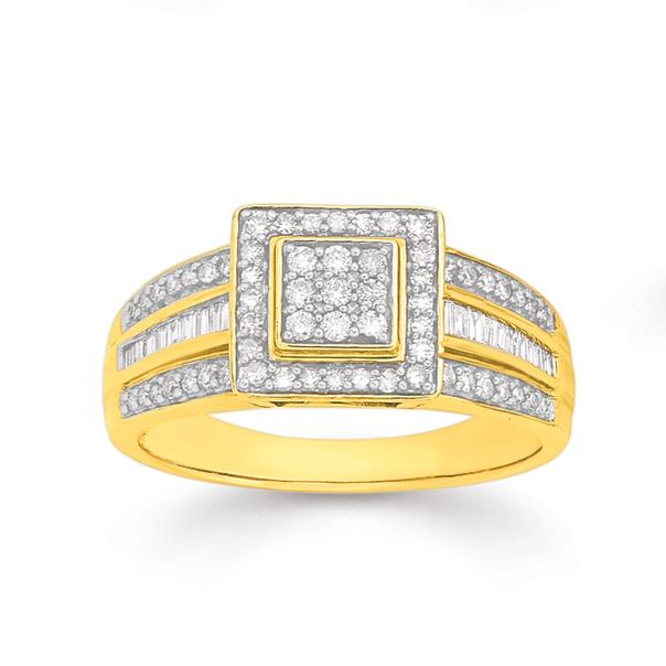 9ct Diamond Fancy Dress Ring TDW=.50ct