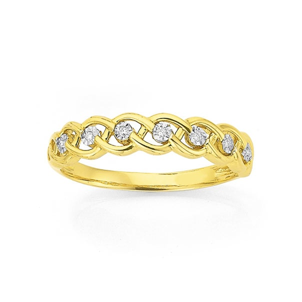 9ct Diamond Miracle Plate Ring