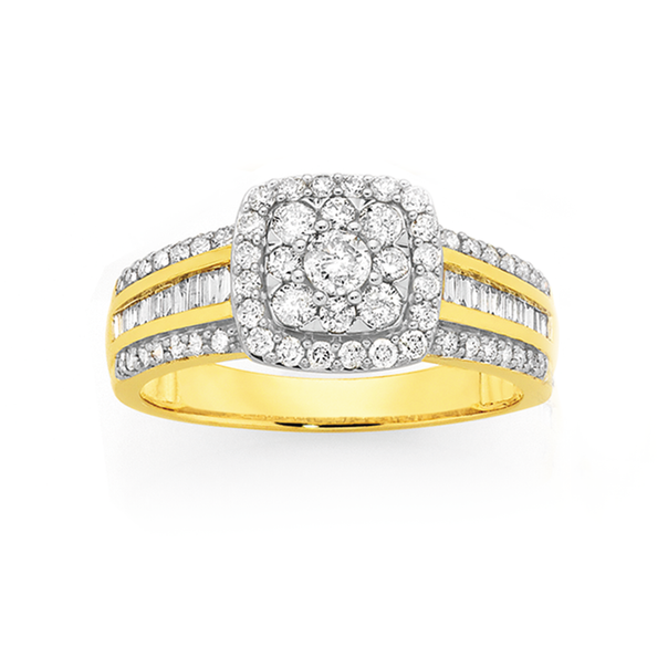 9ct Diamond Ring TDW=1.00ct