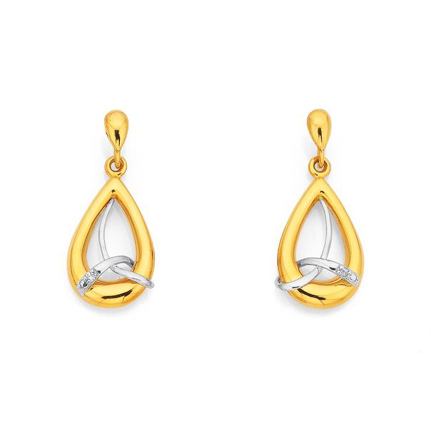 9ct Diamond Set Earrings