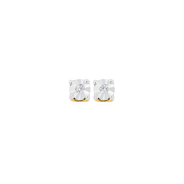 9ct Diamond Stud Earrings