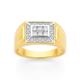 9ct Diamond Top Gents Ring TDW=.34ct
