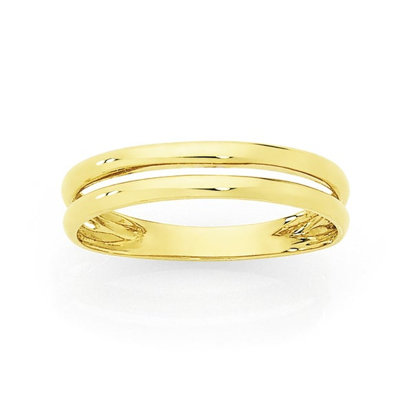 9ct, Double Band Stacker Ring
