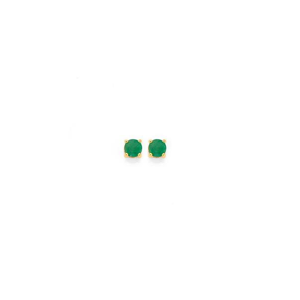 9ct Emerald Studs