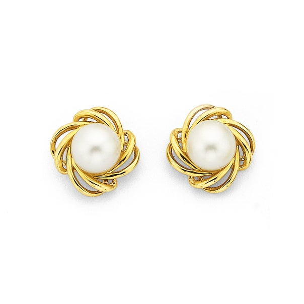 9ct Freshwater Pearl Studs