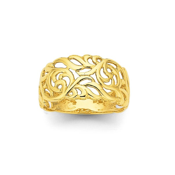 Filigree Ring in 9ct Yellow Gold