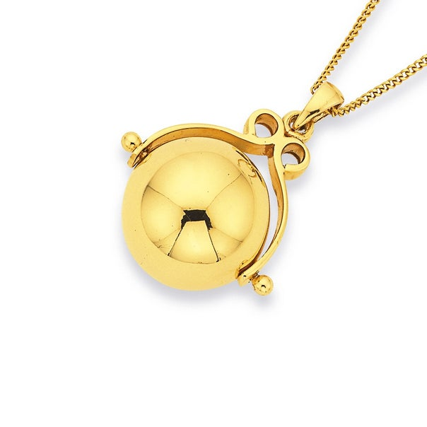 14mm Spinner Ball Pendant in 9ct Yellow Gold
