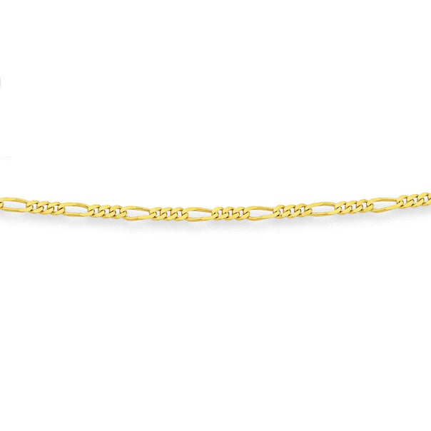 9ct Gold 55cm Solid Figaro Chain