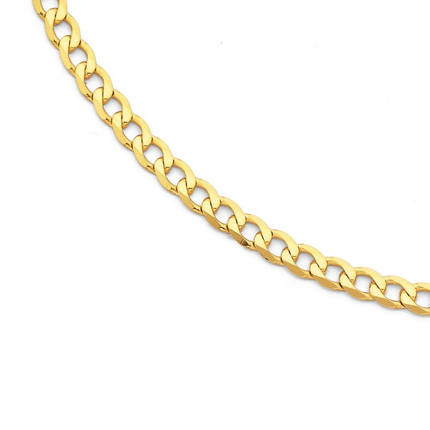9ct Gold 70cm Solid Curb Chain