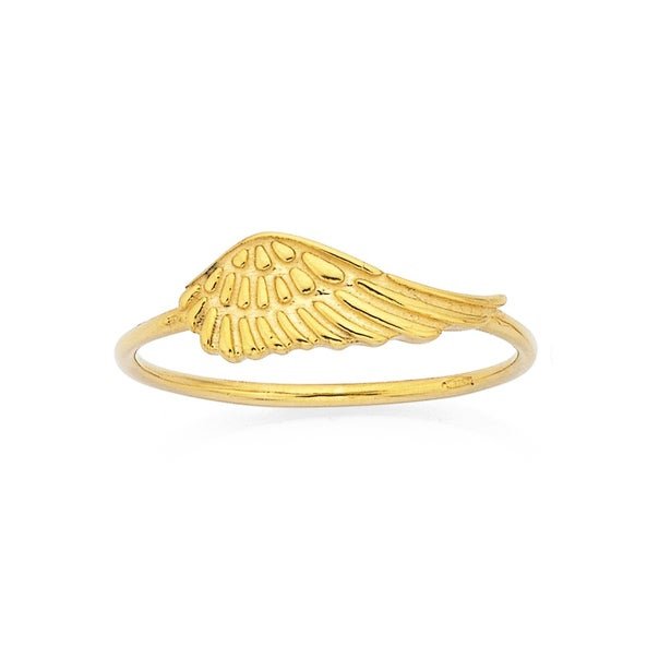 Angel Wing Ring in 9ct Yellow Gold