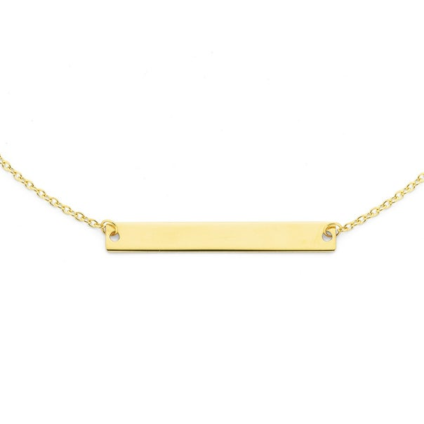 Bar Necklet in 9ct Yellow Gold