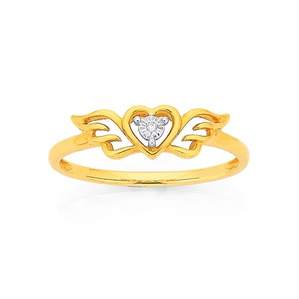 9ct Gold Diamond Dress Ring