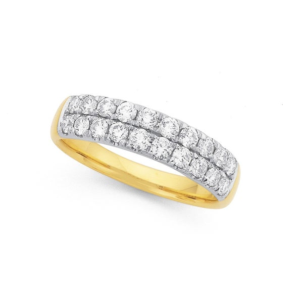 9ct, Diamond Ring Total Diamond Weight=.75ct