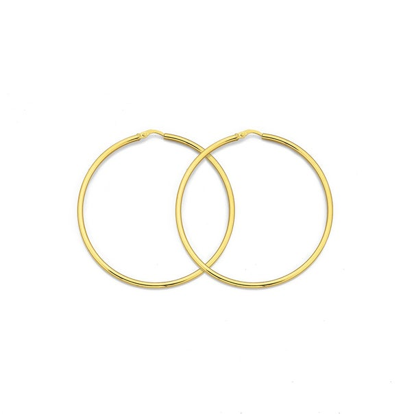 9ct Gold Hoops 56mm