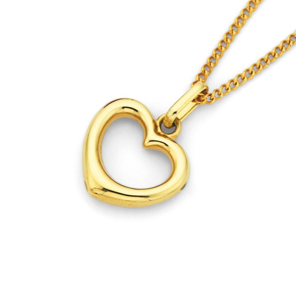 Heart Pendant in 9ct Yellow Gold