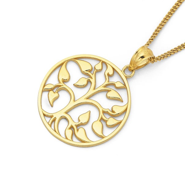 Tree of Life Pendant in 9ct Yellow Gold