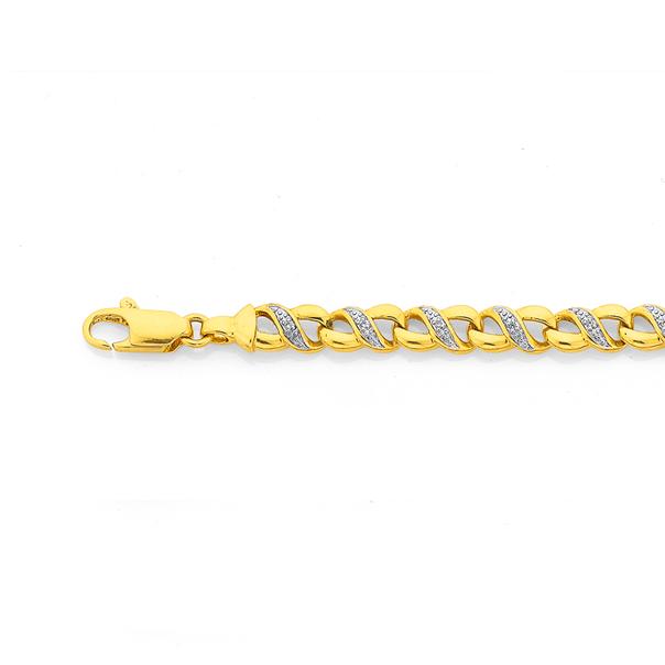 9ct Infinity Diamond Bracelet