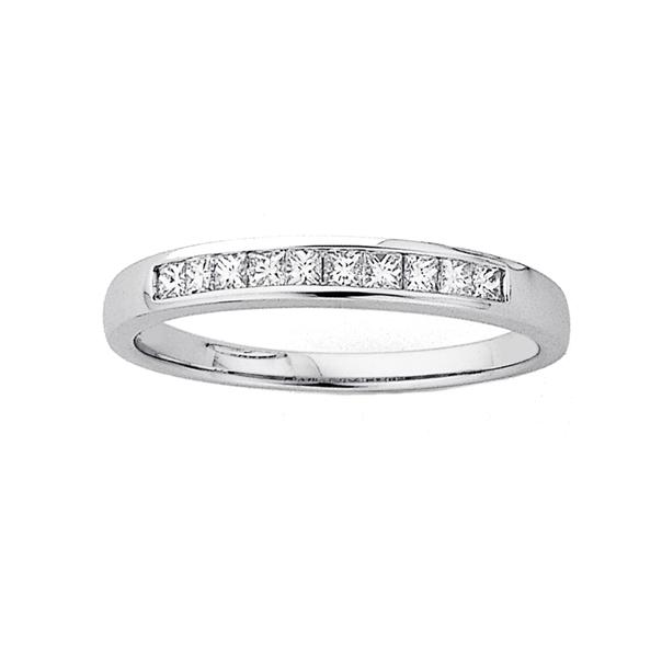 9ct Princess Cut Diamond Eternity Ring TDW=.26ct