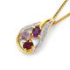 9ct Rhodolite Garnet, Amethyst & Diamond Pendant