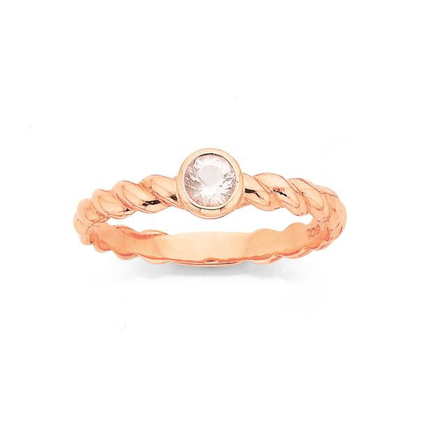 9ct Rose Gold Rose Quartz Ring