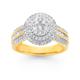 9ct Round Diamond Cluster Dress Ring TWD=1.00ct