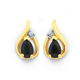 9ct  Sapphire and Diamond Earrings