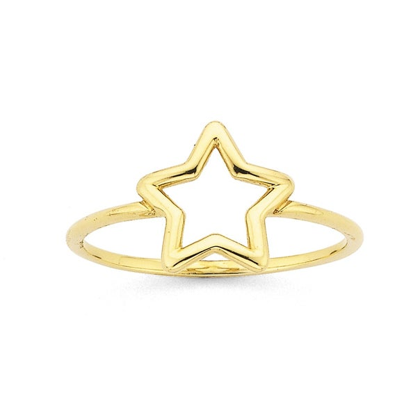 Star Ring in 9ct Yellow Gold