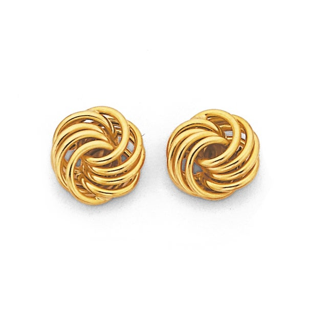 Ring Stud Earrings in 9ct Yellow Gold