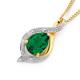 9ct Synthetic Emerald & Diamond Pendant