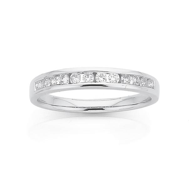 9ct White Gold Diamond Eternity Ring TDW=.26ct