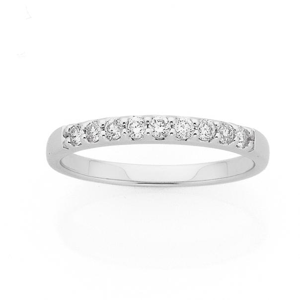 9ct White Gold Diamond Ring TDW=.25ct