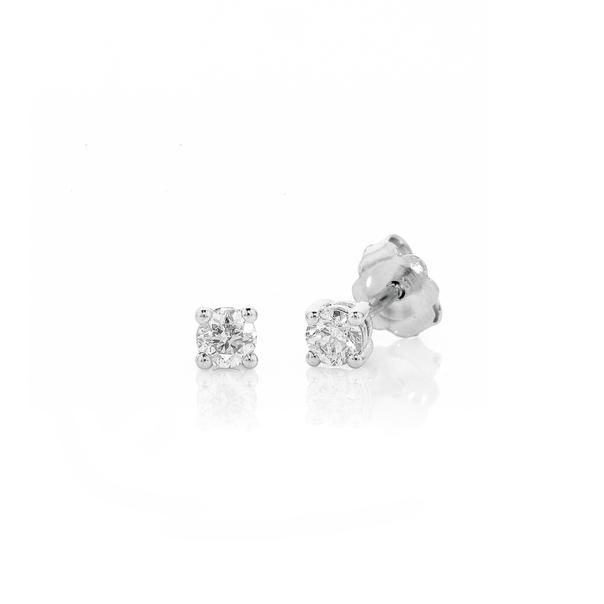 9ct White Gold Diamond Studs TDW=.15ct