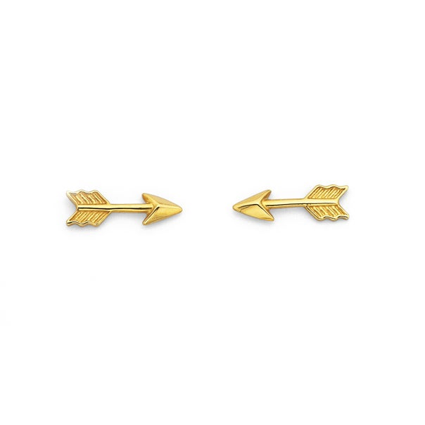 Arrow Studs in 9ct Yellow Gold