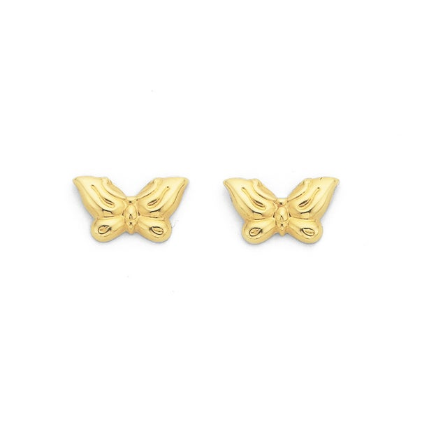 Butterfly Studs in 9ct Yellow Gold