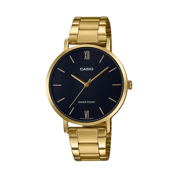 Casio Analogue Gold Tone Black Dial Watch
