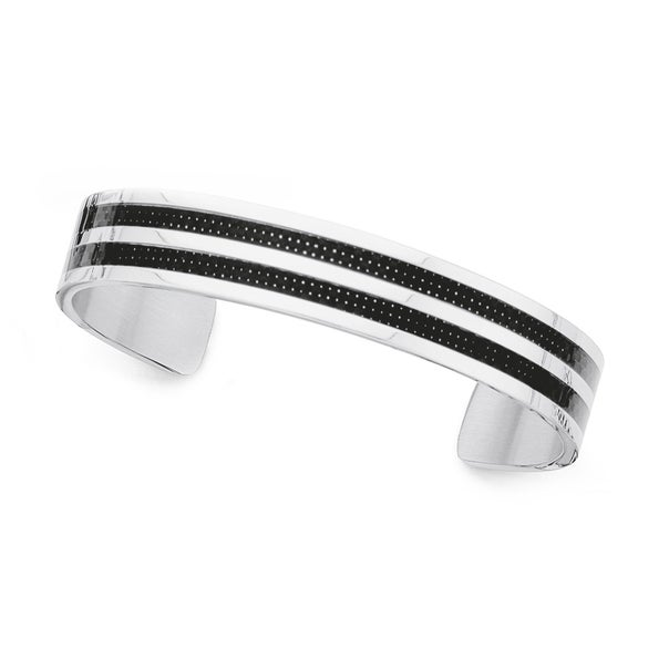 Cuff Bangle in Chisel Stainless Steel