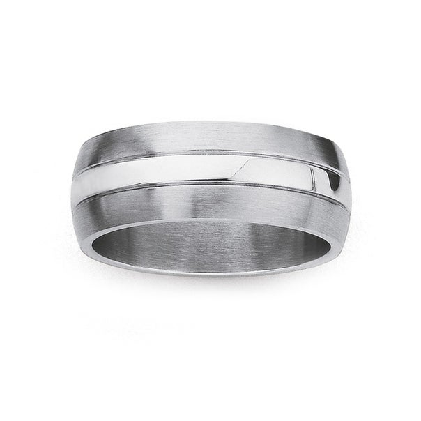 Chisel Stainless Steel Ring (Size X)