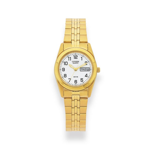 Citizen Ladies Gold Plated 50m Water Resistant Watch