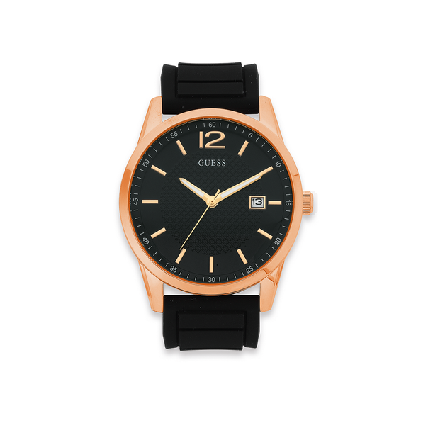 Guess Gents Perry Rose Tone Watch